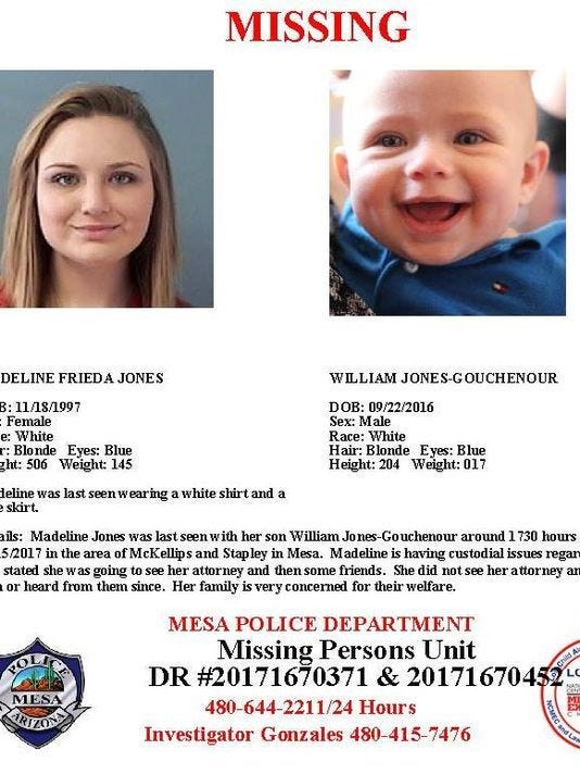 Madeline Jones and son missing