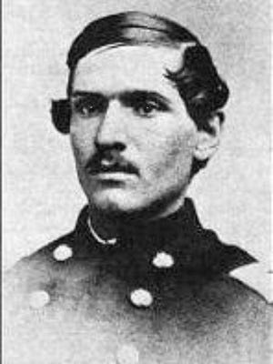William Wade Dudley of Richmond was part of the 19th Indiana in the Iron Brigade at Gettysburg, whose costly holding action at McPherson's Ridge the first day of battle allowed Union troops to attain the higher ground beyond. Because of Dudley's infamous 'blocks of five' scandal that helped throw the Nov. 6, 1888 Presidential election, his reputation was forever tarnished.
