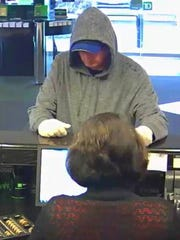 Surveillance image shows a man who robbed a TD Bank