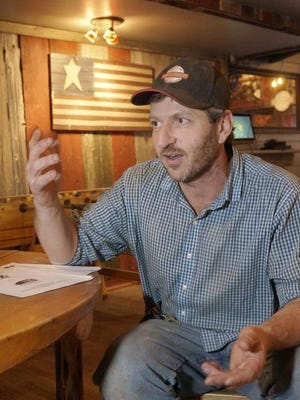James Raptoplous, owner of Grindstone Smokehouse, is hoping to reopen next summer after fire repairs are completed.