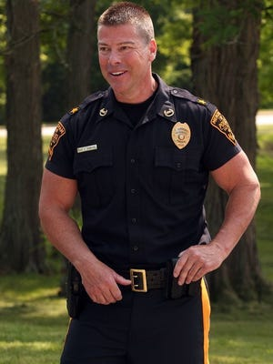Former Mendham Township Police Chief Steven Crawford at a press conference over profiling claims in June 2014.
