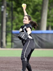 Cedar Grove star pitcher Mia Faieta threw four perfect