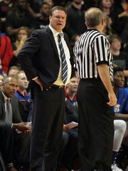 Kansas coach Bill Self has guided the Jayhawks to 15 consecutive conference titles.
