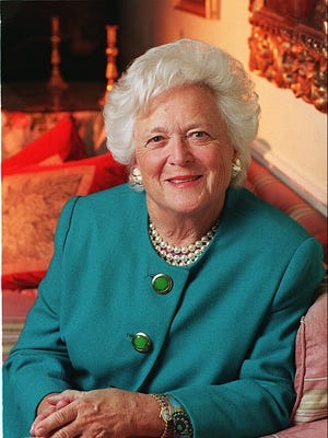 Former First Lady Barbara Bush, who died this week at age 92.