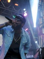 Rapper Big K.R.I.T. performed at the 2015 Neon Desert