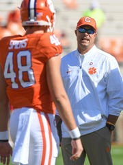 Bill Spiers worked with Clemson's punters last season,
