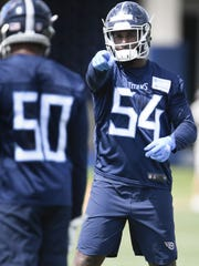 The Tennessee Titans moved up to pick Rashaan Evans