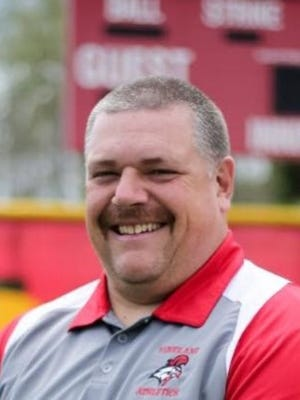 Vineland softball coach Eric Burger