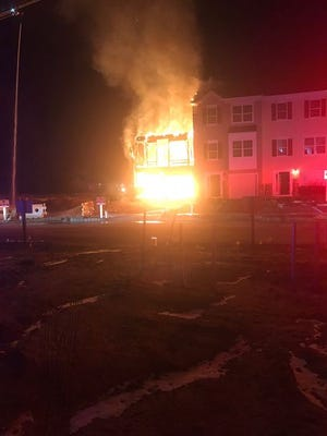 The Iron Gate development in Sicklerville, struck by this suspicious arson fire in January, was the scene of another early-morning blaze Tuesday.
