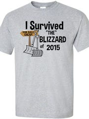 On the Spot Graphics, Jackson, printed up t-shirts mocking the blizzard that never was.