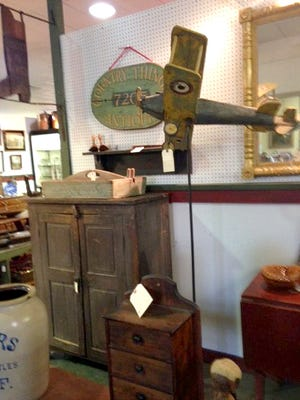 Antiques on display at the The Great Cooperstown Trading Company gallery in Mullica Hill.