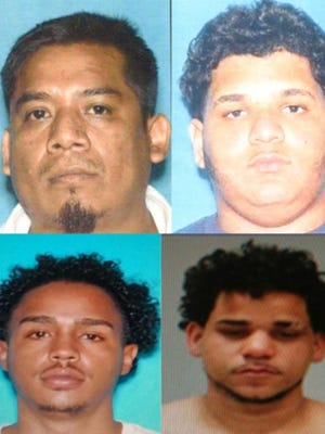 Juan Freddy Hernandez, Andy Reyes, (top, left to right) Ricardo Then-Flete, Aris Trejada (bottom, left to right)