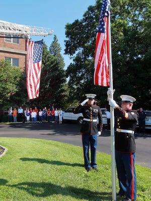 A 2013 Flag Day observance.