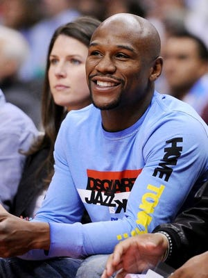 Boxer Floyd Mayweather Jr. is a regular at Los Angeles Clippers games, including this one in November.