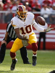 Washington Redskins quarterback Robert Griffin has struggled in three games since returning from a dislocated ankle.