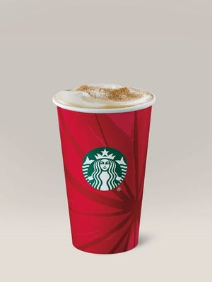 The Starbucks eggnog latte