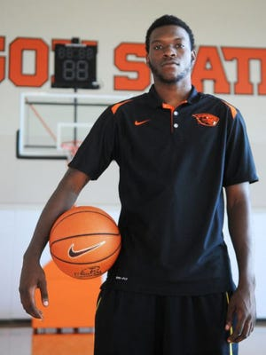 Chai Baker poses for a shot in his OSU gear.