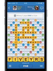 A screenshot of the mobile game 'Words With Friends.'