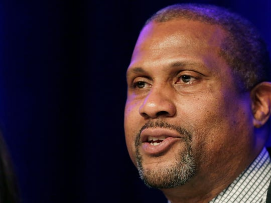 Author and talk show host Tavis Smiley, who grew up in Bunker Hill and Indiana University grad.