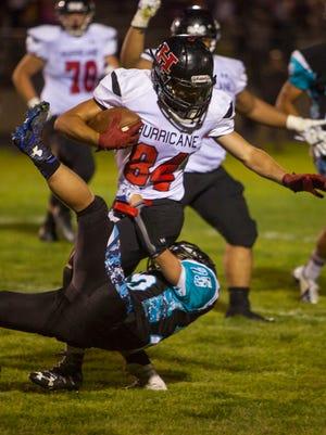 High school football: Hurricane at Canyon View, Friday, Aug. 26, 2016. HHS 20, CVHS 16.