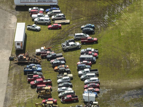 May 13, 2016:  Dozens of vehicles taken from the Rhoden