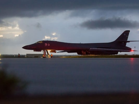 Bombers take-off from Andersen AFB