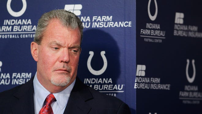 Jim Irsay refused a blood test after he was arrested March 16.