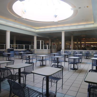 The view at the Northland food court during the mall's
