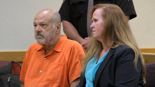 Martin Edward Zale, appears in District Court on Sept. 9, 2014, in Howell with his attorney Melissa Pearce.
