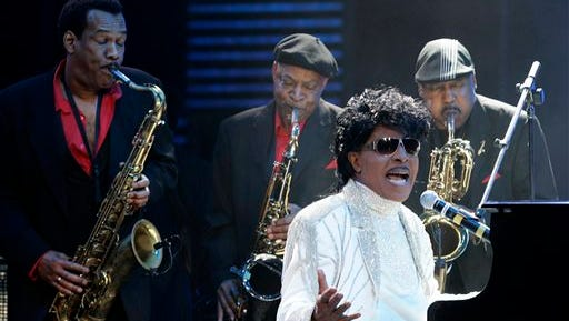 Little Richard performs at The Domino Effect, a tribute concert to New Orleans rock and roll musician Fats Domino, at the New Orleans Arena in New Orleans. Little Richard, the self-proclaimed architect of rock 'n' roll was involved in a car accident in Tenn., but police said there were no injuries. According to a police report, the 81-year-old singer was a passenger in a Cadillac that was struck by another vehicle on Monday, in Murfreesboro, Tenn., about 40 miles southeast of Nashville.
