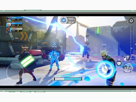 Apple Arcade on an iPhone 11.