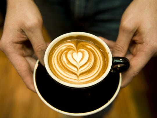An artfully made cappuccino is the work of a barista at Jersey Java in Haddonfield.