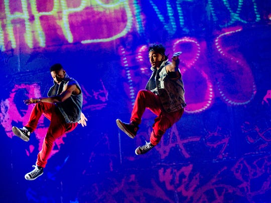 "Jumping for joy in Kurtis Blow's ""The Hip-Hop Nutcracker."""