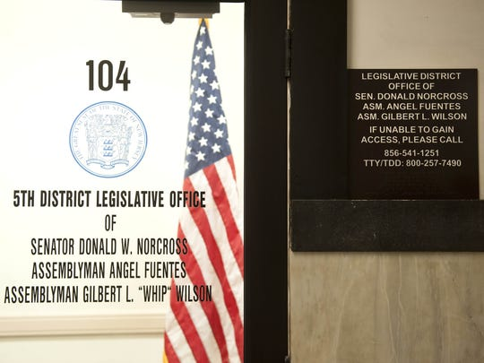 The 5th Legislative District office at Camden City Hall, where Assemblyman Angel Fuentes and office staff worked in support of a Hispanic advocacy group, which Fuentes helped found, on state time and with state resources.
