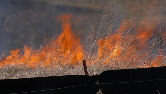 A 2008 brush fire near Waukee.