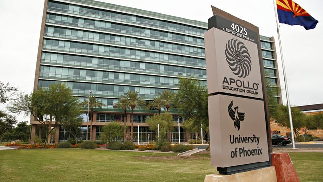 The main headquarters building of the Apollo Group, the parent company of the University of Phoenix.