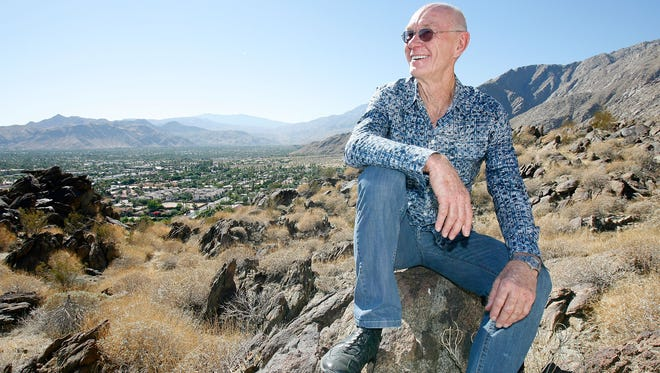 John Wessman poses for a photo above downtown Palm Springs in October 2011.