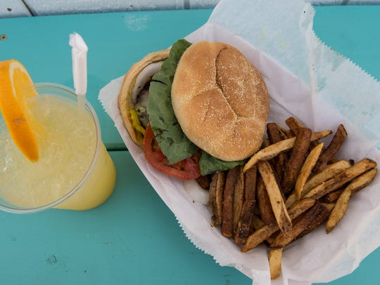 A view of the Burger at Chincotiki on Tuesday, Aug.