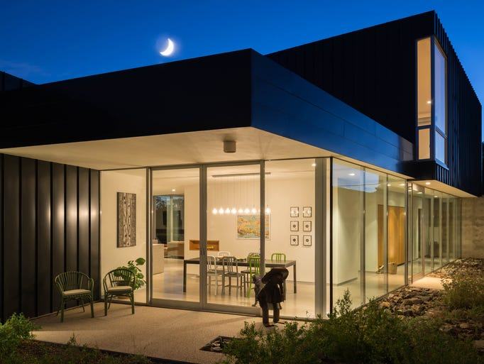 The Carstens home in Phoenix designed by Shepley Bulfinch.