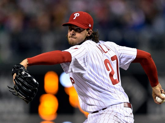 Pitcher Aaron Nola has agreed to a four-year, $45-million contract with the Philadelphia Phillies to avoid salary arbitration.