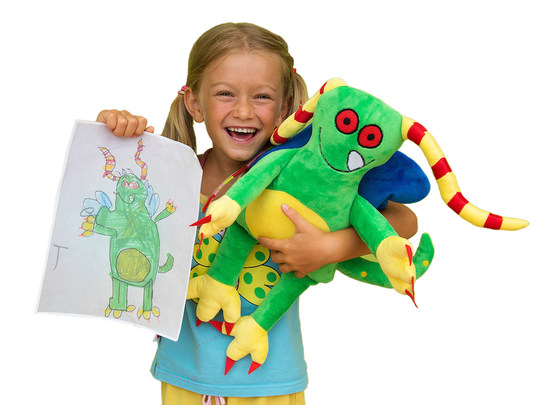 Your child can create their own plush toy with Budsies.