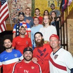 A group of World Cup Soccer fans at Union Tavern in the City of Poughkeepsie on Tuesday night.