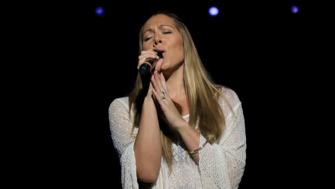 Colbie Caillat sings during her March 24 concert at Tuacahn Amphitheatre in Ivins City.