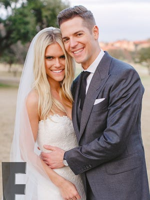 Jason Kennedy and Lauren Scruggs tie the knot in Dallas on Dec. 12, 2014.