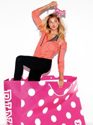 Rachel Hilbert, 20, of Webster, is the new face of the Victoria's Secret PINK Collection.