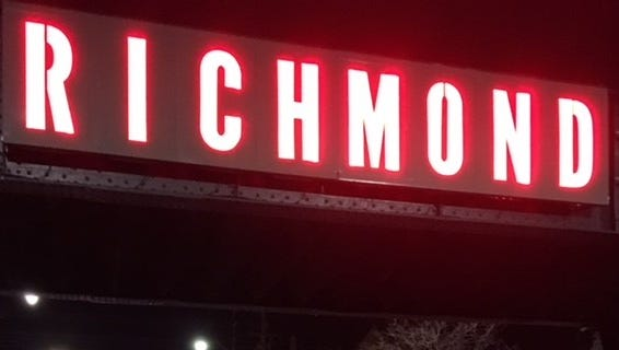 Richmond's railroad trestle project was completed and unveiled Tuesday night.