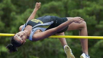 South Brunswick's Courteney Campbell won the Group IV high jump at the Group Championships  on June 3, 2016.