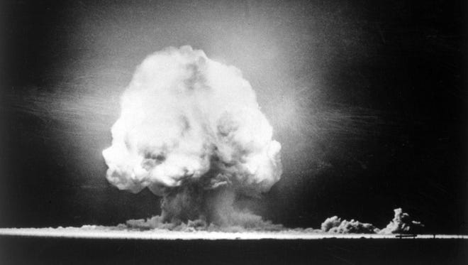 July 16, 1945: The Trinity test ignited the first atomic bomb, sparking the Atomic Age.