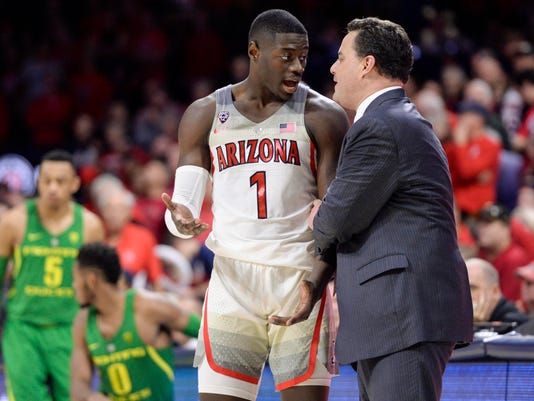 NCAA Basketball: Oregon at Arizona