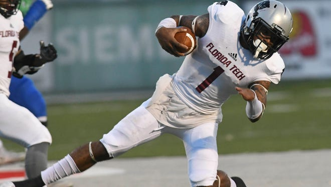 Florida Tech's JT Hassell intercepts a pass during Saturday's game against West Florida.